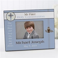 Personalized Communion Picture Frame for Boys - 9738