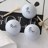 Personalized Golf Ball Set - Wedding Party Design - 9750