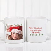 Personalized Loving You Holiday Photo Coffee Mug