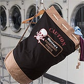Caution Hazardous Waste!© Personalized Laundry Bag