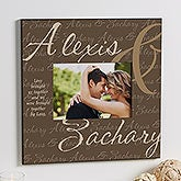Personalized 5 x 7 Picture Frames - Love Brought Us Together - 9815