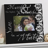 Personalized 5 x 7 Wedding Picture Frames - Wedding Couple - 9818
