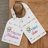 Customized Door Knob Hanger - Prince and Princess Design - 9819