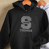 Black Personalized Womens Hoodies - Sports Team