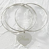 Personalized Heart Bracelet for Mothers - Dear Mom - 9851