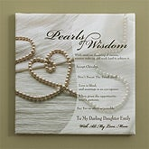 Personalized Canvas Art - Pearls of Wisdom - 9868