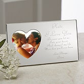 Engraved Silver Heart Romantic Picture Frame - 9870