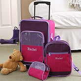 Personalized Child Luggage Set - 3 Piece Pastel Colors Design ...