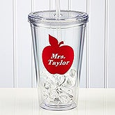 Teacher On The Go� Personalized Acrylic Tumbler with Name