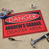 Personalized Custom Floor Mat - Danger Design - 9934