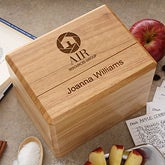 Personalized Corporate Engraved Logo Recipe Box - 9955