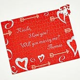 Personalized Valentine's Day Puzzle Gift - Your Secret Message  - 9956