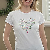 Personalized Women's Clothing - Her Heart of Love - 9968
