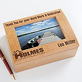 Personalized Engraved Logo Photo Box - 9991