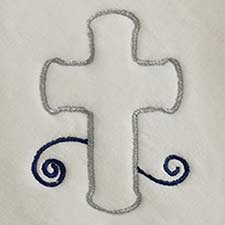 Silver Cross w/Navy