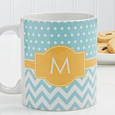 Aqua/Gold Chevron
