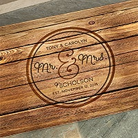 Personalized Wedding Doormat Circle Of Love Recycled