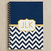 Navy/Gold Chevron