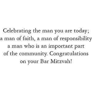 Celebrating the man...
