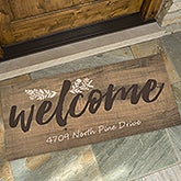 Personalized Oversized Doormat Cozy Home For The Home