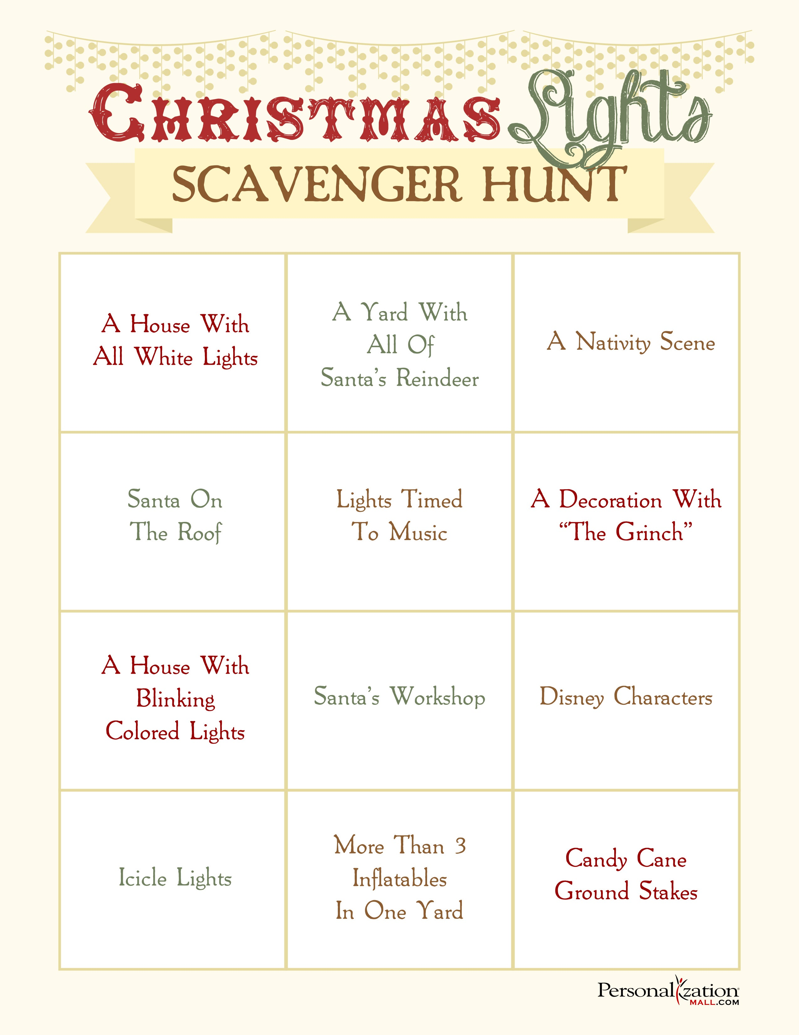 graphic about Christmas Scavenger Hunt Printable Clues titled well prepared for enjoyment upon xmas early morning start off a clean family members
