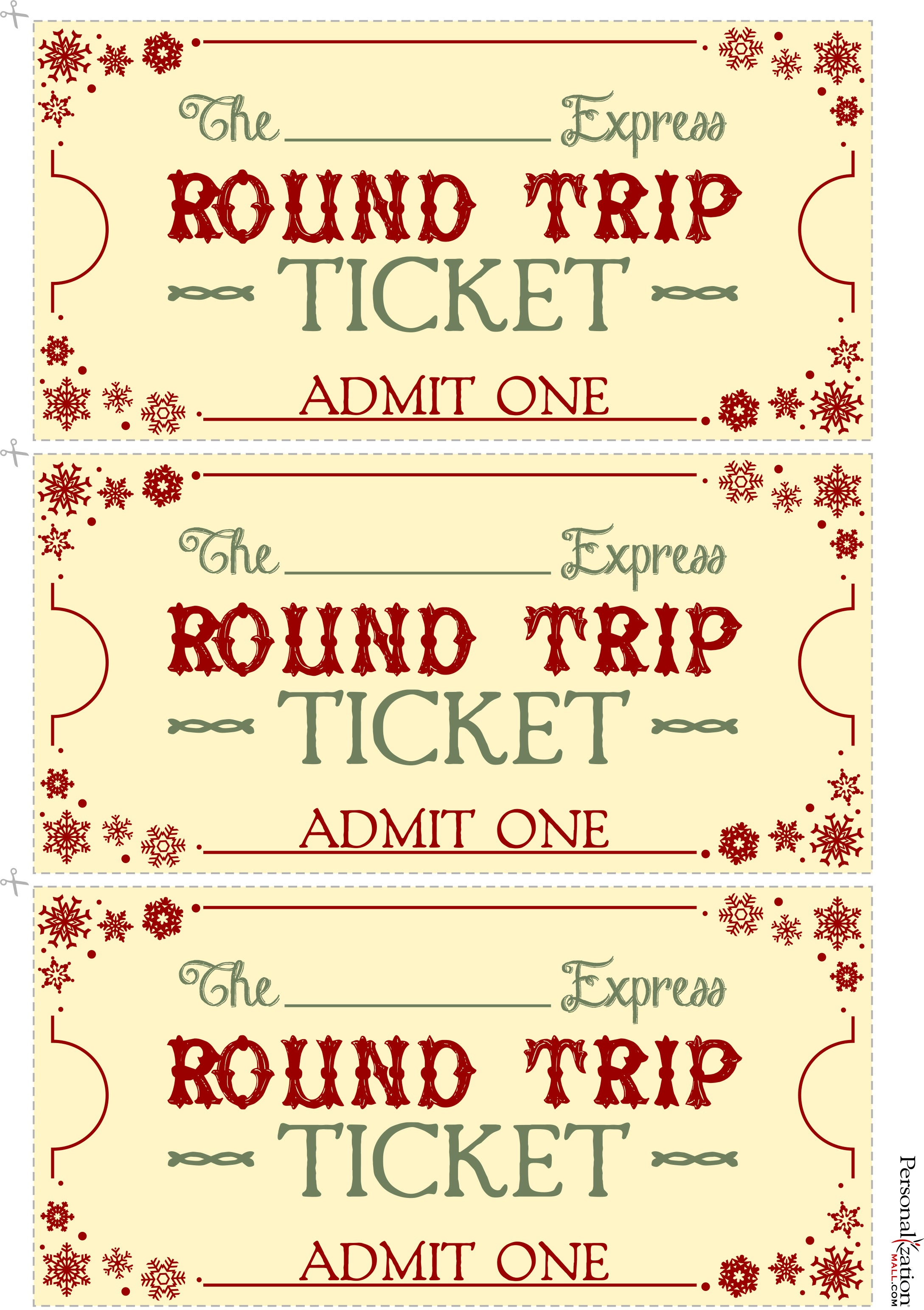 Polar Express Tickets Template Printable Free | New Calendar Template ...