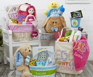 Personalized easter baskets gifts personalizationmall personalized easter baskets negle Gallery
