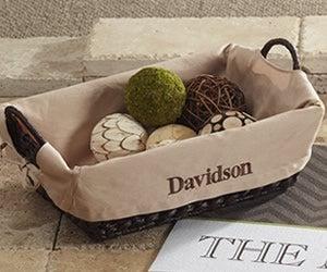 Personalized Baksets & Basket Liners