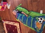 Personalized Kids Sleeping Bag Sports Nap Mat