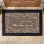 Personalized Doormat 18x27 Family Blessings For The Home