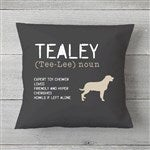 Madison Wi Exactly How Many Square >> Personalized Dog Throw Pillow - Definition of My Dog - Customer Reviews