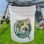 Personalized Fishing Bucket Cooler Sit N Fish