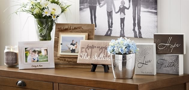 Personalized home decor personalization mall for Home decor manufacturer